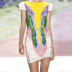 Tibi watercolor backless mini dress, 2